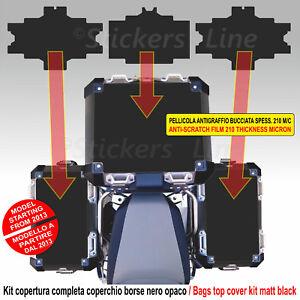 Kit 3 adesivi COPERCHIO SUPERIORE valigie BMW R1200 R1250 GS ADV bags stickers