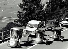 1986 Original Photo solar powered vehicles at Tour de Sol rally in Switzerland