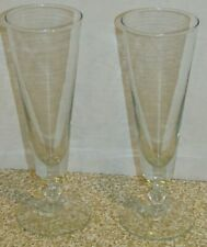 Pair of Clear Glass Glasses