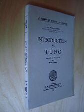 Jansky Introduction au Turc 1949 phonétique lexique cours exercice langue turque