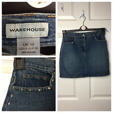 Warehouse Denim Skirt Size 12 Short