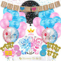 93PCS Gender Reveal Balloon Baby Shower Party Boy / Girl Sticker Cupcake Toppers