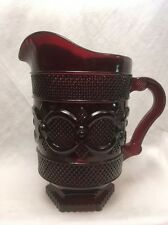 Avon Ruby Red Cape Cod Water Pitcher