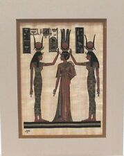 Egyptian Papyrus  9-Hand Painted Signed  NEW Matted 11x14 Ethnic