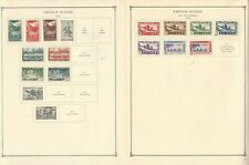 French Colonies Stamp Collection on 18 Album Pages, India, Polynesia+, JFZ
