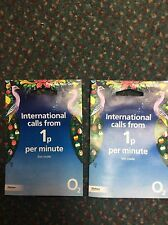 2x 02 International Sim card O2 to O2 Free Minutes and Text Keep your Credit