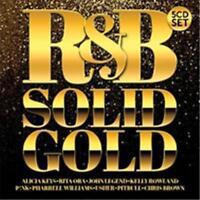 R&B SOLID GOLD 5CD NEW Alicia Keys Outkast Fugees Chris Brown Pitbull Ciara TLC