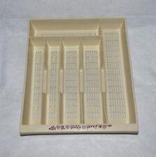 Vintage Silverware Tray Plastic Drawer Organizer 6 Slots Almond Burgundy Design