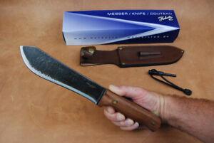 Original Herbertz Outdoor Messer / Jagdmesser mit Lederscheide und Feuerstarter