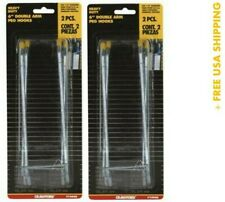 (2) Crawford Hook Peg 1/4 X 6 Inch Double Cd2 14446 (Pack of 2) New/Open Packing