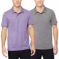 32 Degrees Mens Cool Short Sleeve Tech Performance Polos 2-pack Gray/Pur 2XL XXL