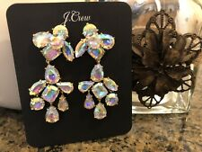 Out. New$65 With J.Crew Bag! J.Crew Crystal Cluster Chandelier Earrings! Sold