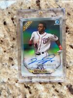 2018 Bowman Chrome VICTOR ROBLES Refractor RC AUTO SP RARE #44/150 WAS Rookie