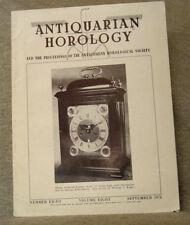 Antiquarian Horology ~ september 1974 ~ longitude & the marine chronometer