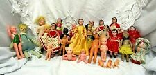 27 Vintage Mostly Celluloid Dolls Crochet & Original Clothing Includes Swimmer