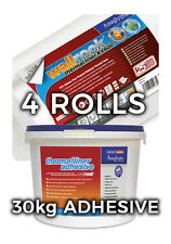 Wallrock 4 rollos forro térmico KV600 & 30 kg Forro Térmico Adhesivo
