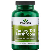 Swanson Standardized Turkey Tail Mushroom Extract Capsules, 1 g, 60 Ct