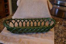 "Eucalyptus Stoneware Williams Sonoma Green 15 3/4""L braided Basket Del Mar Ca"