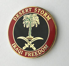 Operation Desert Storm Iraqi Freedom Lapel Pin Badge 1 inch