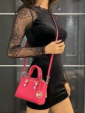 Michael Kors Ciara XS Mini Crossbody Saffiano Leather Giftable Bag Electric Pink