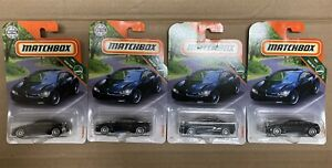 Matchbox #4 '16 BMW I8 Black MBX Road Trip 4/35 Lot Of 4 Carded Good Condition