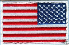 """American Flag  Patch-Star Field Right, White Border 3 1/2"""" X 2 1/4"""""""