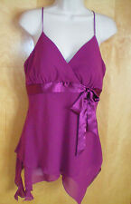 NWT womens ladies size M burgundy FASHION BUG dressy top shirt free shipping