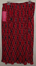 NWT WOMENS Cathy Daniels WOMAN LINED RED PLAID SKIRT  SIZE 2X