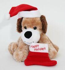 Hallmark Happy Holidays Christmas Stocking Puppy Dog Plush Toy