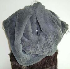 Long Faux Fur Cowl / Infinity Scarf ~ Grey