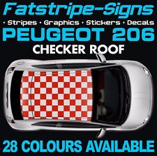 PEUGEOT 206 CHECKER ROOF GRAPHICS STRIPES DECALS STICKERS GTI PUG 1.4 1.6 2.0 CC