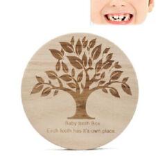 Baby Tooth Box Organizer Milk Teeth Wood Storage First Tooth Keepsake BabyBox Lb