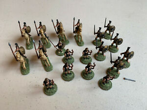 VTG 1979 Ral Partha Figurines - Amazon Warrior Army & 6 Horses - Painted - LOT B