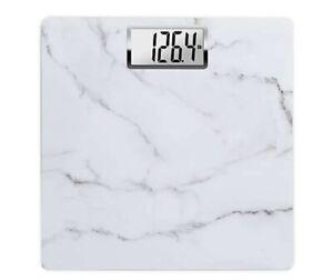 HoMedics® Carrara Marble Digital Bathroom Scale in White