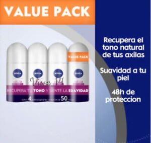 Nivea ANTIPERSPIRANT 4-Pack Clarified (whitening) Roll Deodorants *FREESHIPPING*