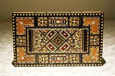 Schmuckkasten Holzschatulle mit-Perlmutt,Kunsthandwerk Damaskunst-K-1-2-422