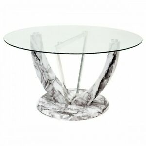 Jericho Marble Style Round Dining Table
