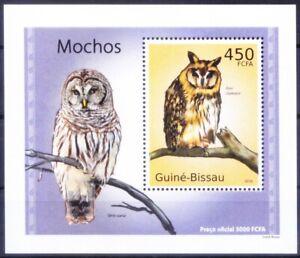 Guinea Bissau 2010 MNH MS, Striped Owl, Birds of Prey