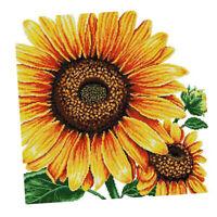 Stamped Cross Stitch Kits Vorbedruckter Stoff Mit Sonnenblumenmuster