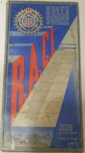 RACI REALE AUTOMOBILE CLUB D'ITALIA CARTINA 1937 FUTURISMO VELOCITÀ STRADARIO