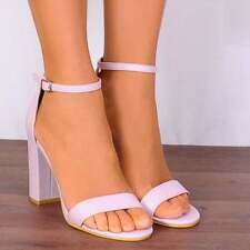 LILAC LIGHT PURPLE ANKLE STRAP PEEP TOES STRAPPY SANDALS HIGH HEELS SHOES SIZE