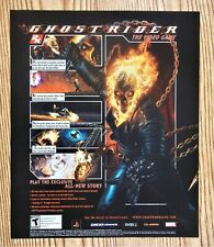 Ghost Rider Hack & Slash Promo Psp Video juego de GBA 2006 Vintage AD/cartel impresión