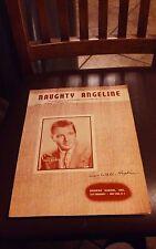 NAUGHTY ANGELINE VINTAGE SHEET MUSIC COPYRIGHT 1947