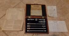 VINTAGE SER# 1 WEINCHEL PRECISION ATTENUATOR SET MOD AS-2 IN WOOD CASE VG COND