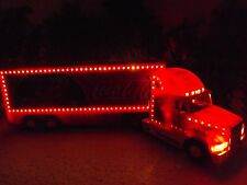 LARGE 15 Ins. COCA COLA 1998 CHRISTMAS LIGHT UP TRUCK IN BOX.
