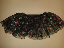 Ref Christmas Trees -Girls Black Tutu Skirt Hen Night/Party/Halloween 6-16