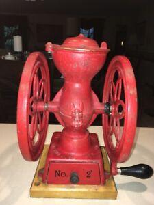 Antique Rare 1898 Enterprise No. 2 Coffee Grinder Mill Original Condition.