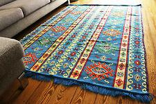 135 cm x 200 cm Orientalischer Teppich, Kelim ,Carpet aus Damaskunst S 1-4-62