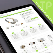 Ebay Template mit Ebay Html Editor ★CRYSTAL Responsive lind grün +PREMIUM Editor