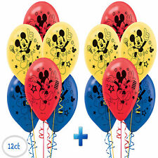 Mickey Mouse Printed Latex Balloons Birthday Decorations Party Supplies ~ 12ct